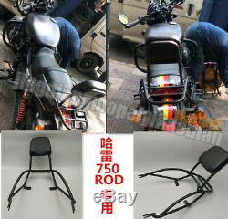 Backrest Sissy Bar Luggage Rack Pad for Harley Davidson Street Rod XG750A 17-20