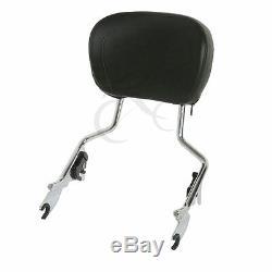 Backrest Sissy Bar Stealth Luggage Rack & Docking Kit For Harley FLHT FLHR 09-13