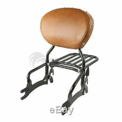 Black 12 Backrest Sissy Bar With Luggage Rack For Indian Chief Classic 2014-2019