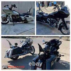 Black 22 Sissy Bar Backrest For Harley Touring Road King Street Electra Glide