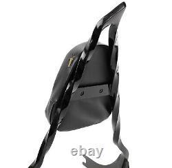 Black Detachable Backrest Pad Twisted Custom Sissy Bar Harley 06-17 Dyna FXD OB