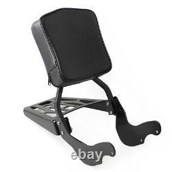 Black Detachable Backrest Sissy Bar Luggage Rack For Victory Vegas Kingpin 03-up