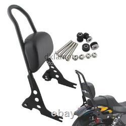 Black Detachable Passenger Sissy Bar Backrest For Harley Sportster XL 883 1200