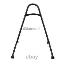 Black Detachable Sissy Bar Backrest Cushion Pad For Harley Sportster XL 883 1200