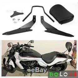Black Detachable Sissy Bar Backrest Kit Fits Suzuki Boulevard M109R 2006-2019