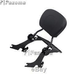 Black Detachable Sissy Bar Passenger Backrest For Harley Sportster XL 1200 883