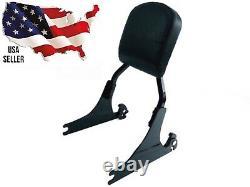 Black Harley Detachable Back Rest Pad Softail Fat Boy Sissy Bar Fatboy 2000-2005
