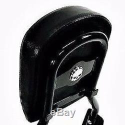 Black Harley Dyna Backrest Sissy Bar Super Glide Custom Street Bob Low Rider Fxd
