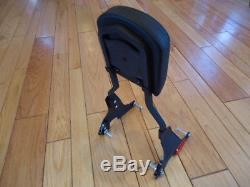 Black Harley Sportster Backrest Sissy Bar Quick Release Detachable Iron 883 1200