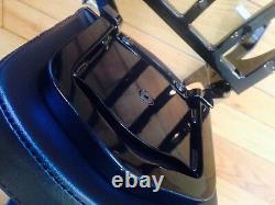 Black Harley Sportster Detachable Backrest Sissybar Rack Forty Eight Seventy Two