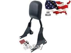 Black Harley Sportster Detachable Backrest Sissybar Superlow Nightster Passenger