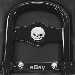 Black Harley Sportster Detachable Sissy Bar Backrest Luggage Rack Forty Eight 48