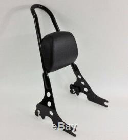 Black Harley Sportster Quick Release Sissy Bar Upright 51146-10a Pad 52631-07-19