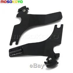 Black Luggage Rack Backrest Sissy Bar Pad For Harley Sportster XL 883 1200 94-03