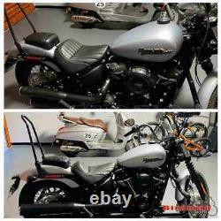 Black Passenger Sissy Bar Backrest For Harley Softail FLDE FLHC FLSL FXBB 18-up