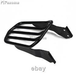 Black Sissy Bar Passenger Backrest + Luggage Rack Fits Harley Sportster 94-03