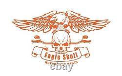 CHROME Harley-Davidson Low Detachable Backrest Sissy Bar & Luggage Rack Softail