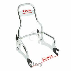 Chrome 12 Sissy Bar Backrest Black Pad Fit For Indian Chief Dark Horse 14-2018