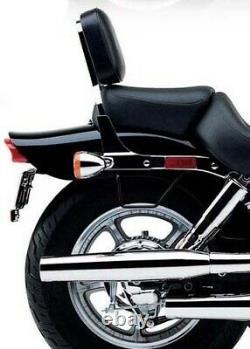 Chrome Backrest Sissy Bar + Luggage Rack Pad for Kawasaki Vulcan 1500 VN1500