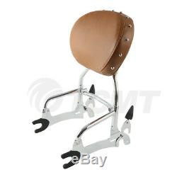 Chrome/Black 12 Backrest Sissy Bar WithPad For Indian Chief Vintage Classic 14-18