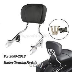 Chrome Detachable Backrest Sissy Bar HD For Harley Road King Touring 2009-2018