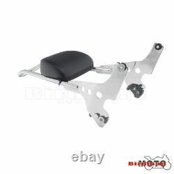 Chrome Detachable Backrest Sissy Bar Luggage Rack For Harley Sportster 883 1200