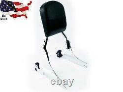 Chrome Detachable Harley Backrest Sissy Bar Softail Heritage Classic Springer HD