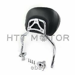 Chrome Detachable SissyBar Pad Backrest For Harley FLRT Freewheeler 2015-2020