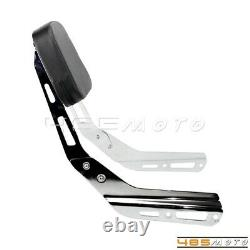 Chrome Motorbike Sissy Bar Backrest with Luggage Rack For Honda VTX 1300C 1800 C F