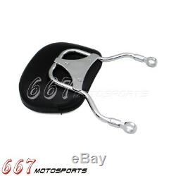 Chrome Motorcycles Detachable Backrest Sissy Bar with Luggage Rack For Harley Dyna