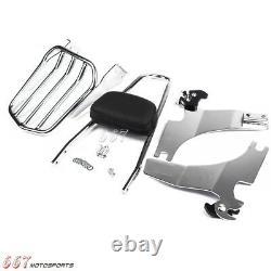 Chrome Sissy Bar Backrest & Luggage Rack For Harley-Davidson Sportster 2004-16