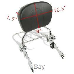 Chrome Sissy Bar Backrest Rack Docking Kit For Harley TouringStreet Glide 14-20