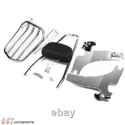Chrome Sissy Bar Luggage Rack Backrest For Harley Sportster XL883 1200 1994-2003