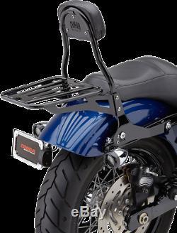 Cobra 602-2004B Round Detachable Sissy Bar Backrest with Pad Black