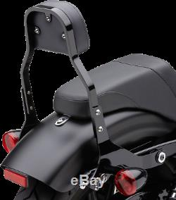 Cobra 602-2021B Detachable Sissy Bar Backrest with Pad Mini Square Black