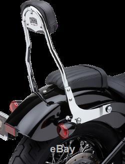 Cobra Round Detachable Sissybar Backrest with Pad Chrome Softail M8 2018-2020