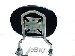DETACHABLE SISSYBAR WithBACKREST LUGGAGE RACK FOR 07+ YAMAHA V-STAR 950 1300 ROUND