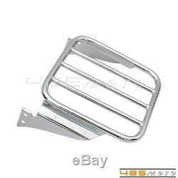 Detachable Adjutable Backrest Sissy Bar with Luggage Rack For Harley Softail 00-05