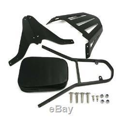 Detachable Backrest Pad Sissy Bar with Luggage Rack For Suzuki Boulevard M109R
