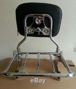 Detachable Backrest Sissy Bar Harley Davidson Softail 00-06 WISDOM MOTORCYCLE