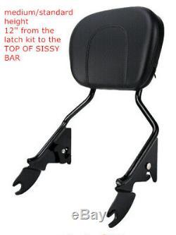 Detachable Backrest Sissy Bar Luggage Rack Fit For Harley Street Glide 2014-2020