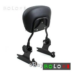 Detachable Backrest Sissy Bar&Luggage Rack For Harley Davidson Softail Black New