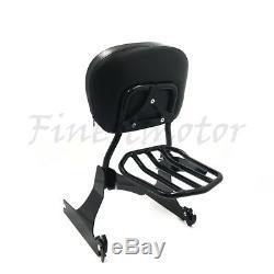 Detachable Backrest Sissy Bar&Luggage Rack For Harley Dyna 10-later FXDF FXDWG