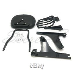 Detachable Backrest Sissy Bar&Luggage Rack For Harley Dyna 10-later FXDF FXDWG