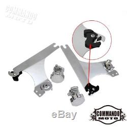 Detachable Backrest Sissy Bar Luggage Rack For Harley Dyna Low Rider FXDL 02-05