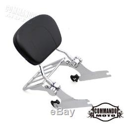 Detachable Backrest Sissy Bar&Luggage Rack For Harley FXSTB FXSTC 2006-UP 200mm