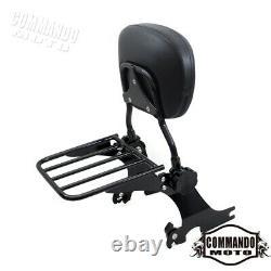 Detachable Backrest Sissy Bar/ Luggage Rack For Harley Iron 883 XL883N 2004-2020