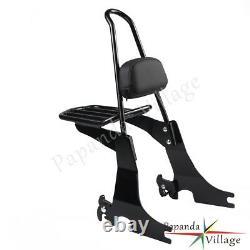 Detachable Backrest Sissy Bar + Luggage Rack For Harley Sportster XL1200C 04-16