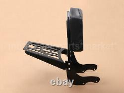 Detachable Backrest Sissy Bar & Luggage Rack Pad Kit For Victory Vegas Kingpin