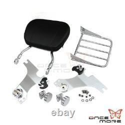 Detachable Backrest Sissy Bar Luggage Rack Set For HD Sportster 04up XL 1200 883